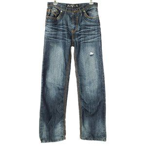 GS115 Distressed Jeans Youth Dark Wash